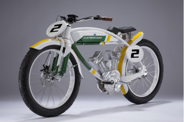 The Caterham Classic E-Bike has a faux V-twin motor and a very short range.