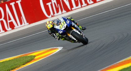 Valentino Rossi finished in fourth place.
