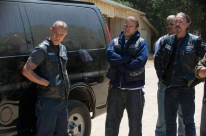 TV's make-believe motorcycle gang wonders what contraband they'll load into their van next.