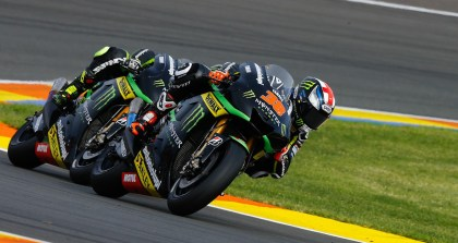 Cal Crutchlow crashed out, but Bradley Smith managed seventh.