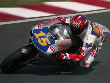 Doriano Romboni, at the Japanese GP in 1996. Photo: Rikita/Wikimedia