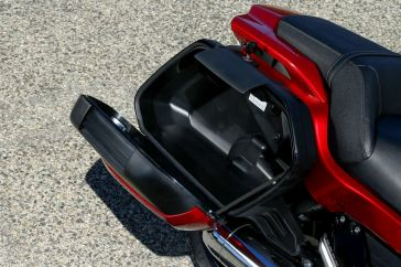 The saddlebags have a 35-litre capacity.