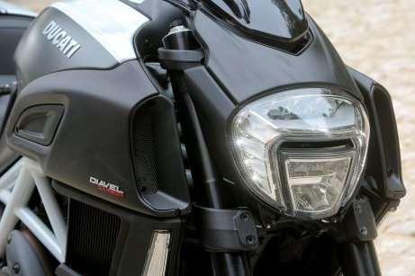 The headlights are LED; the technology was borrowed from parent company Audi.