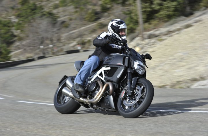Muscle in Monaco: Costa rides the new Diavel