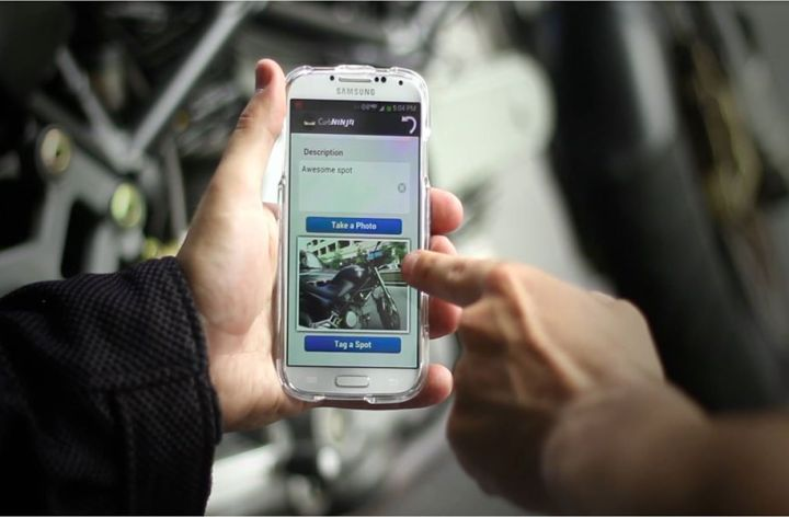 New app helps you find motorcycle parking