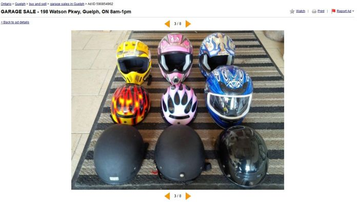 Don't buy a used helmet. You don't know if it's still safe.