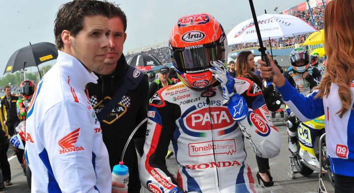 Michael van der Mark scored his first Supersport win in front of a home crowd.