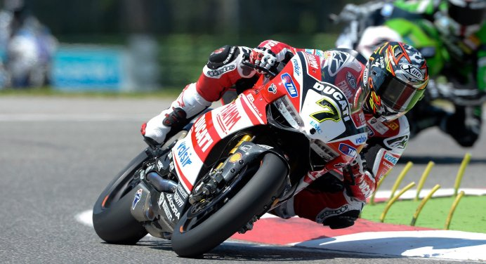Chaz Davies was happy with his pair of second-place finishes. They were the best results for Ducati this year.