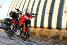 Quick-detach hard luggage, like the bags on this Ducati Multistrada, is far more convenient on a street tour.
