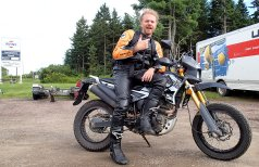The CMG Konker: A made-in-China copy of a Suzuki DR200. It was flogged like a rented mule every year, and survived all that (plus a Fundy Adventure Rally). Piloted here by Michael Uhlarik, who was shocked it didn't explode.