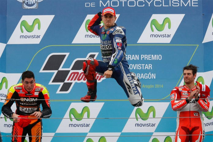 Lorenzo seems to be rather happy at the day's conclusions