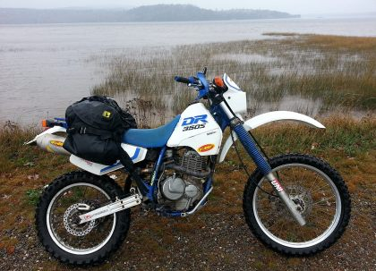 The Wolfman bag worked very well on Zac's DR350, proving itself as a reliable, waterproof bag that could haul a surprising amount of equipment.