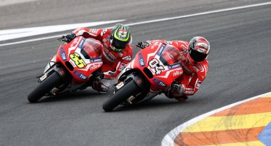 Dovizioso and Crutchlow battled hard throughout the race, with the Italian rider eventually prevailing by a whisker.