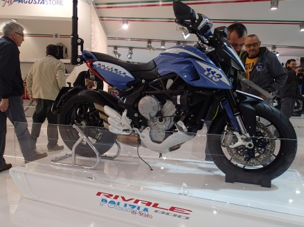 MV Agusta trying to tempt the police onto its product. Let's not show this one to the RCMP.