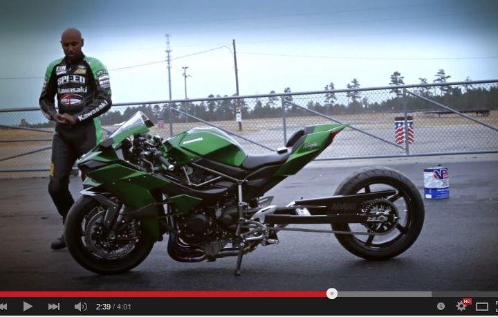Une Kawasaki H2 Transformee En Dragster Canada Moto Guide