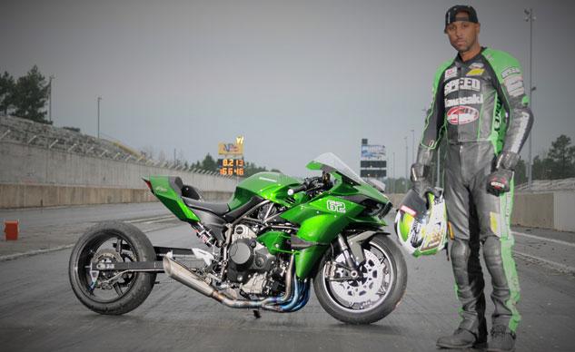 Rickey Gadson Kawasaki H2R
