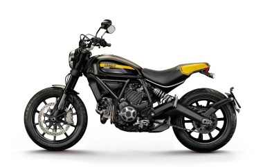 It's inspired by flat track, they tell us. Cool!
