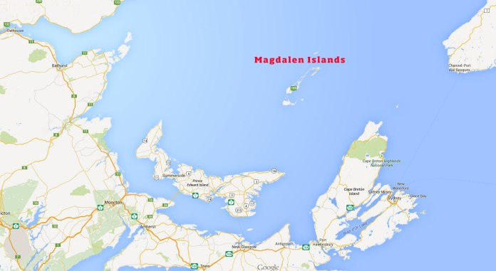 The Magdalen Islands are surrounded by all the Atlantic provinces but are actually part of Quebec.