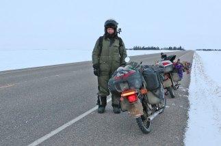 Ed March's freezer suit kept him warm across Canada. Photo: Rachel Lasham