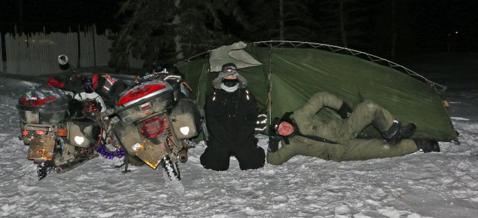 And we managed to set a new coldest temperature for camping in the tent, ­-32.9C!