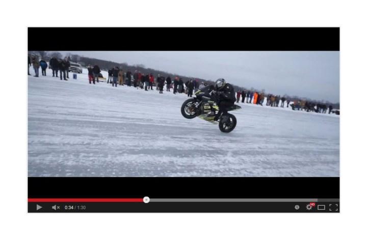 Video: Ice wheelie record