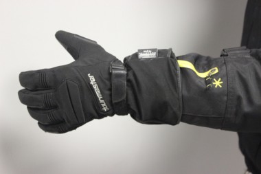 Warren reckons the heated gloves work better than heated grips, and work best in conjunction with them.