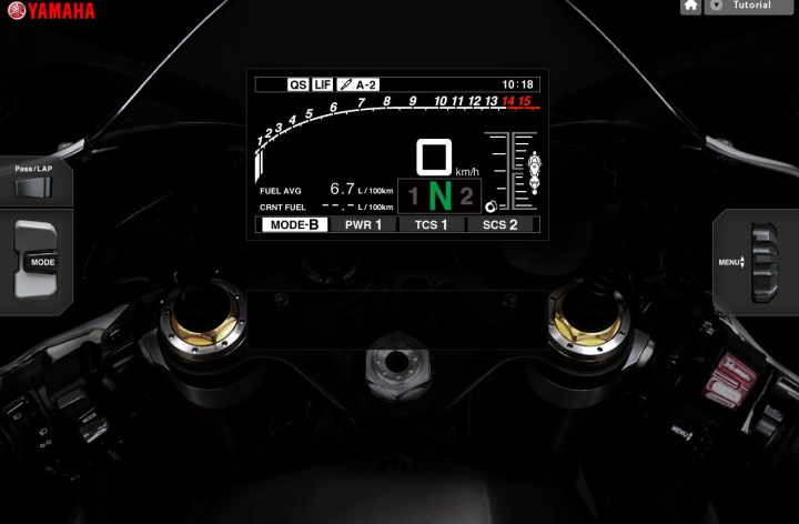 Try the new Yamaha R1 simulator
