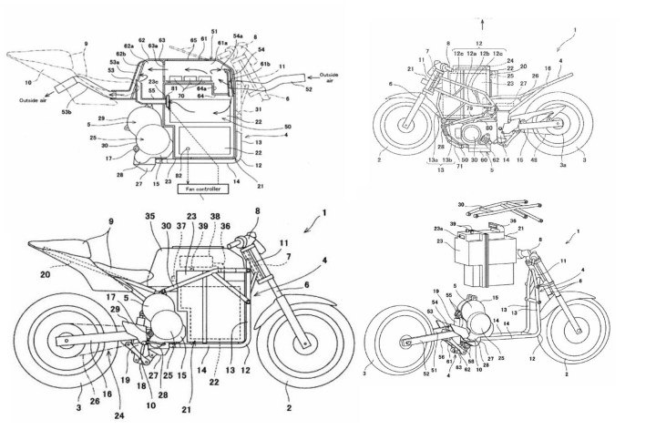 Patents indicate plans for electric Kawasaki Ninja