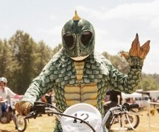 This is pretty typical protective gear for the event. Photo: Sideburn