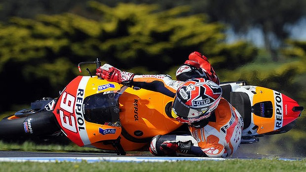Marc Marquez crashes out in free practice this week.  Again.