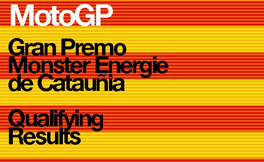MotoGP – Gran Premo Monster Energie de Cataluña – Qualifying