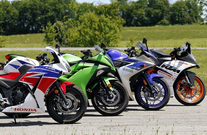 CBR300R, Ninja 300, RC390 and R3 comparo