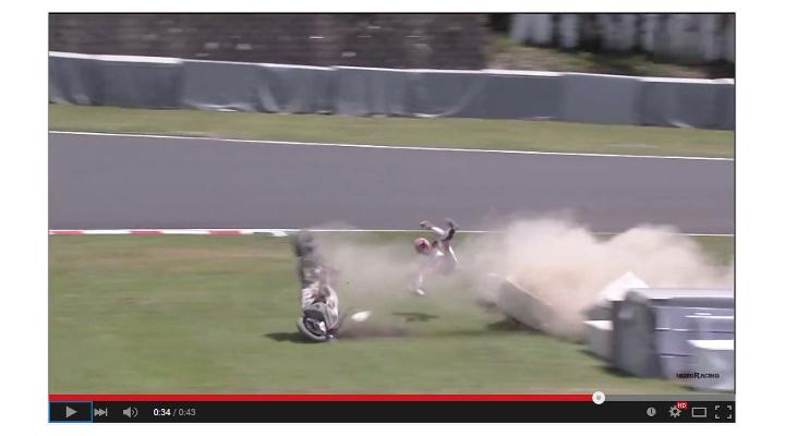 Video: See Casey Stoner's Suzuka crash