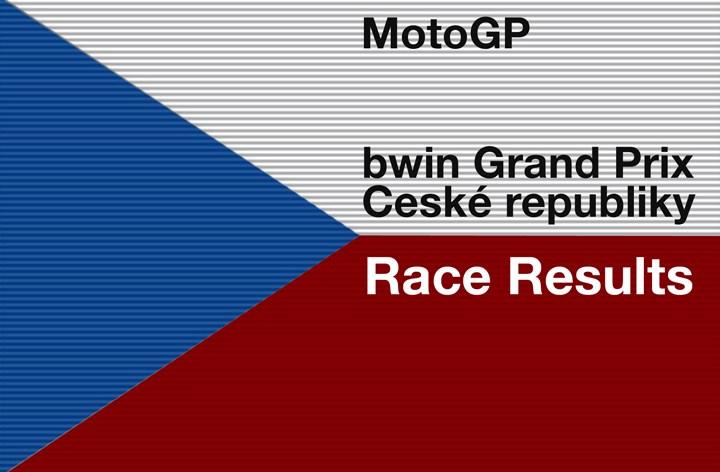 MotoGP Round 11 – bwin Grand Prix Ceské Republiky Race Results