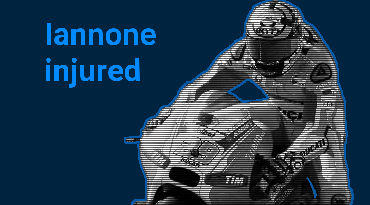 Andrea Iannone injures shoulder