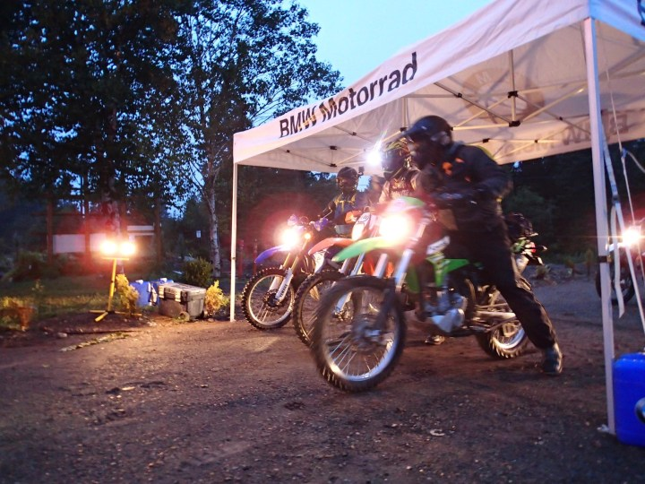The first wave of riders were into the trails at 5:45 AM