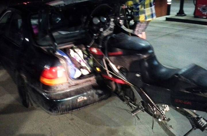 Motorcycle transportation gone wild
