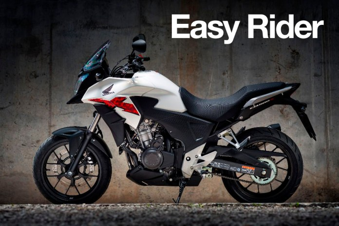 The 2015 Honda CB500X stands tall but off-road function is strictly limited.