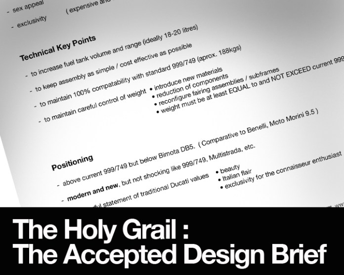 It's been months (years, sometimes) but it has finally arrived : The Design Brief! Now all you need is to make.