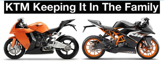 These two motorcycle designs are separated by 10 years and 1000cc, but the brand resemblance shines through.
