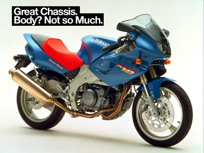 """Yamaha SZR 660 is if nothing else, a monument to a time when """"Boom Boom"""" by Venga Boys was Italy's top hit."""