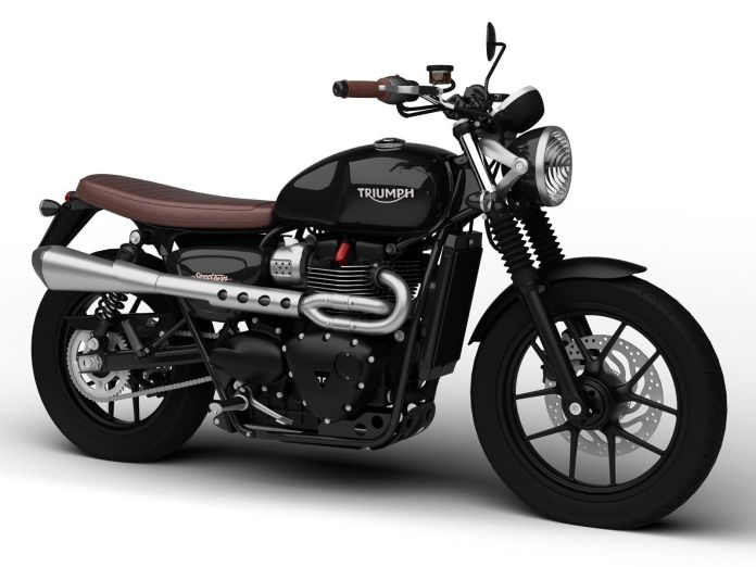 Amazing looking at a glance, this Triumph Street Twin is a CAD rendering made in Alias, a surface design app.