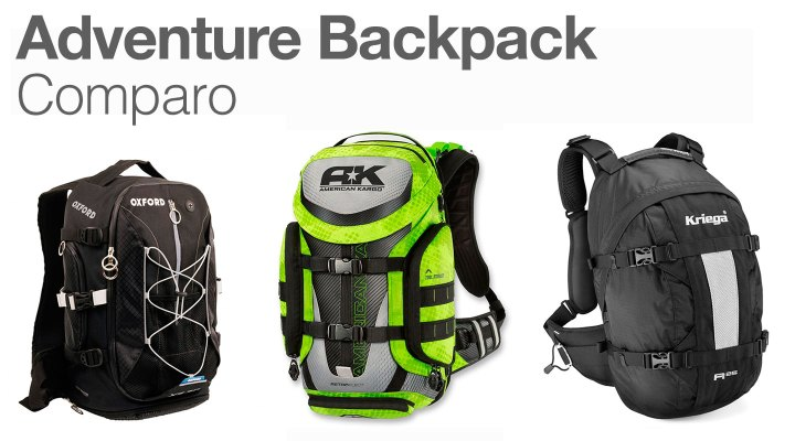 Adventure Backpack comparo