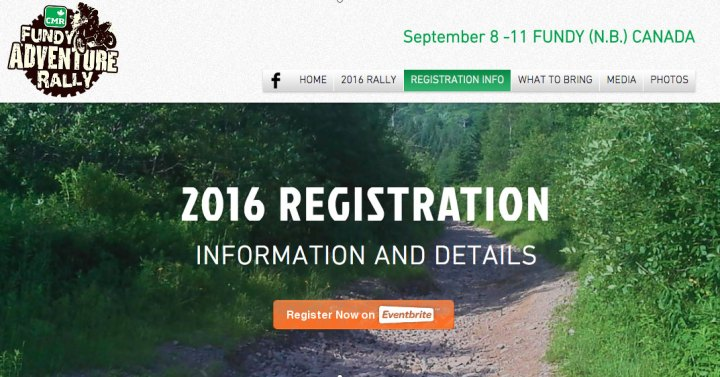 Fundy Adventure Rally registration opens today