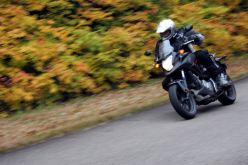 Hooning through the fall colours in Quebec.