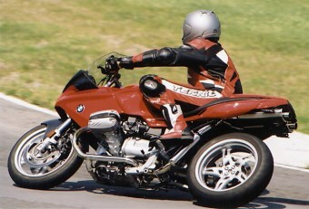 Rob whips a Beemer through its paces at Mosport in 2001.