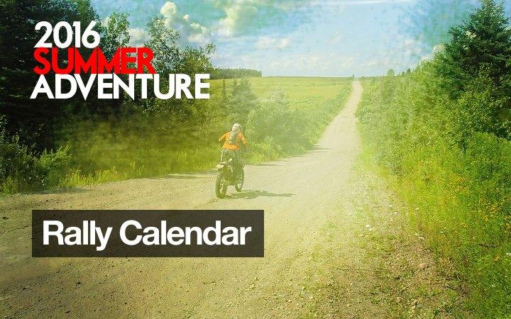 CMG Adventure Rally Calendar 2016
