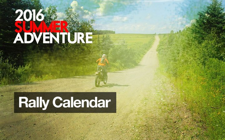 CMG Adventure Rally Calendar 2016