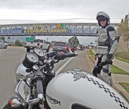 Rob always welcomed his mid-winter motorcycle escapes, whether they took him to Daytona or further abroad.