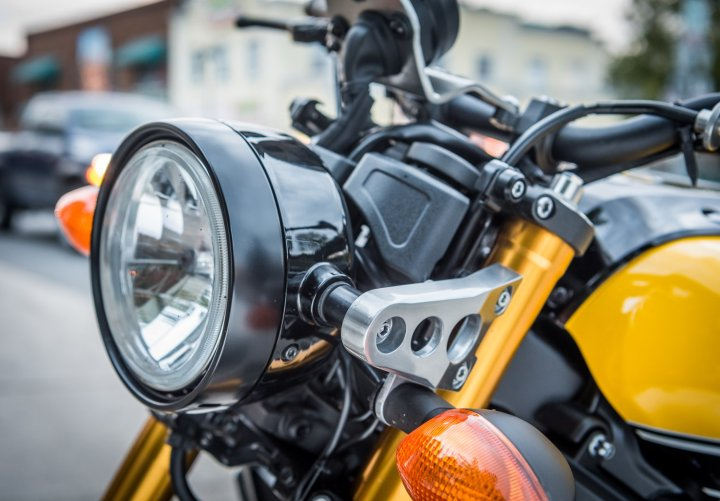 Custom-style accents set the XSR apart from the average Japanese naked bike.